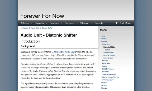 Forever For Now Diatonic Shifter page on the 25th of January, 2007.