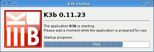 K3b 128 Splash