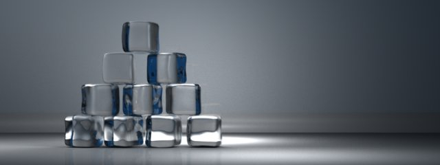 Final ice cube logo stack rendered using Yafray